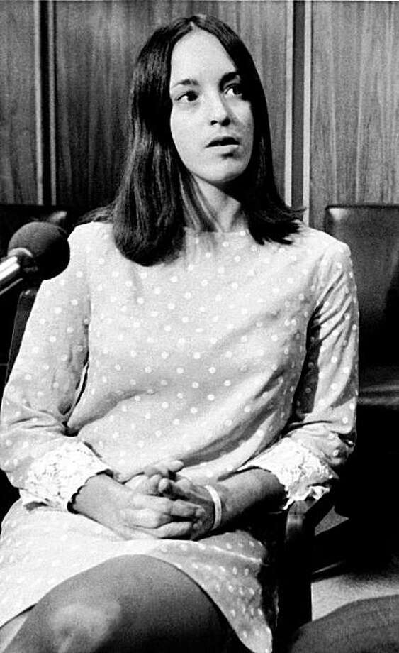File - In this Dec. 3, 1969 file photo, Susan Atkins, at age 21, a follower of Charles Manson, speaks at a news conference in Santa Monica, Calif. Atkins, who admitted killing actress Sharon Tate 40 years ago, has died. She was 61. Atkins died late Thursday night Sept. 24, 2009 at a prison hospital in Chowchilla where she had been moved when she became ill. (AP Photo/Wally Fong, File) Photo: Wally Fong, AP