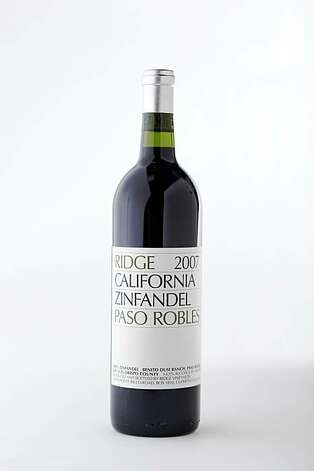 2007 Ridge Benito Dusi Ranch Paso Robles Zinfandel in San Francisco, Calif., on October 7, 2009. Photo: Craig Lee, Special To The Chronicle