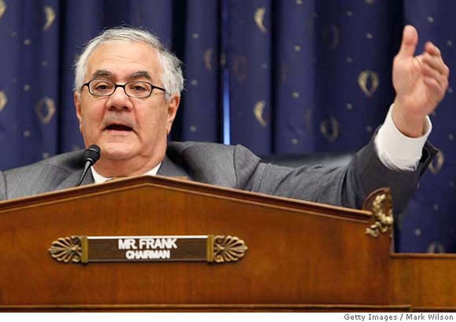 ###Live Caption:WASHINGTON - APRIL 09: Chairman Barney Frank (D- MA) questions witnesses during a House Financial Services Committee hearing on Capitol Hill, April 9, 2008 in Washington, DC. The committee was hearing testimony on mortgage and housing legislation.(Photo by Mark Wilson/Getty Images)###Caption History:WASHINGTON - APRIL 09: Chairman Barney Frank (D- MA) questions witnesses during a House Financial Services Committee hearing on Capitol Hill, April 9, 2008 in Washington, DC. The committee was hearing testimony on mortgage and housing legislation.(Photo by Mark Wilson/Getty Images)  Ran on: 04-10-2008  President Bush wants to expand an existing program.###Notes:House Financial Services Committee Meets On Economic Legislation###Special Instructions: Photo: Mark Wilson