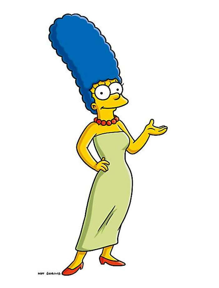 "In this publicity image released by Fox, the character Marge Simpson, from the animated series, ""The Simpsons,"" is shown. Marge Simpson will grace the cover of the November issue of Playboy, on newsstands Oct. 16, 2009. It's a first for the magazine, which has had everyone from Marilyn Monroe to Cindy Crawford to the Girls of Hooters and even the likes of Jerry Seinfeld on the cover. But it's never had a cartoon character before. CEO Scott Flanders says the idea is to attract readers in their 20s to a magazine where the average reader's age is 35. (AP Photo/Fox) Photo: Fox, AP"