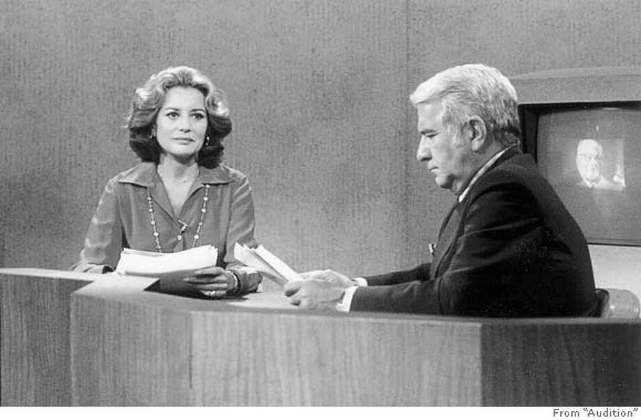 "Ran on: 05-07-2008  Barbara Walters became the first female co-anchor of an evening news program in 1976; co-anchor Harry Reasoner wasn't happy. Photo: From Barbara Walters' ""Audition"""