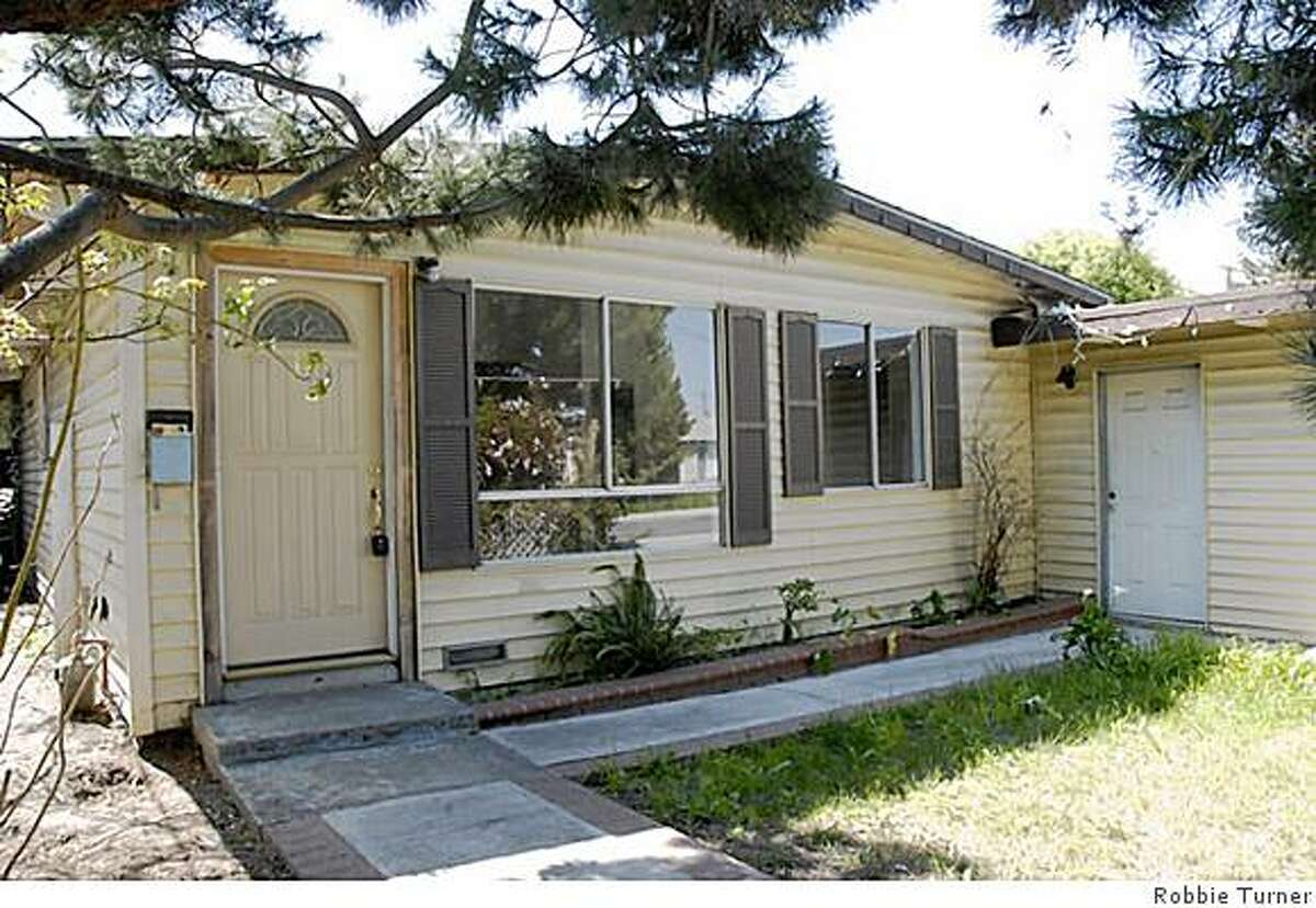 Habitat for Humanity Greater San Francisco purchased this foreclosed home in Menlo Park and will start renovating it on Friday for eventual occupancy by a low-income family. Credit is Robbie Turner.