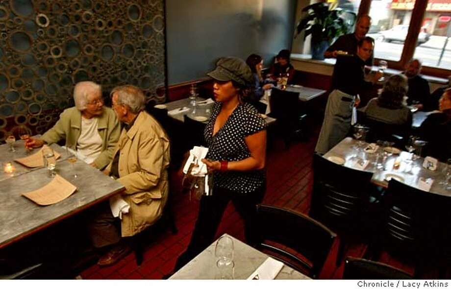 ###Live Caption:Customers have dinner at the Maritime East restaurant., Wednesday April 23, 2008, in Berkeley, Calif. Lacy Atkins / San Francisco Chronicle###Caption History:Customers have dinner at the Maritime East restaurant., Wednesday April 23, 2008, in Berkeley, Calif. Lacy Atkins / San Francisco Chronicle###Notes:###Special Instructions:MANDATORY CREDIT FOR PHOTOG AND SAN FRANCISCO CHRONICLE/NO SALES MAGS OUT Photo: Lacy Atkins