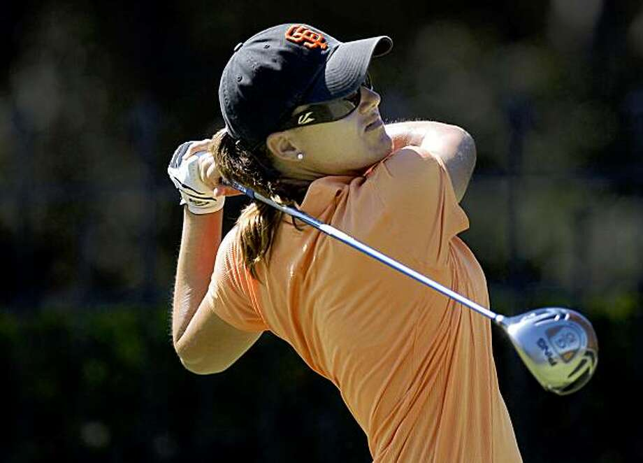 Sophie Gustafson, of Sweden, watches a shot during the first round of the CVS/pharmacy LPGA Challenge golf tournament at Blackhawk Country Club in Danville, Calif., Thursday, Sept. 24, 2009. Gustafson finished the round at 7 under par. (AP Photo/Contra Costa Times, Karl Mondon) Photo: Karl Mondon, AP