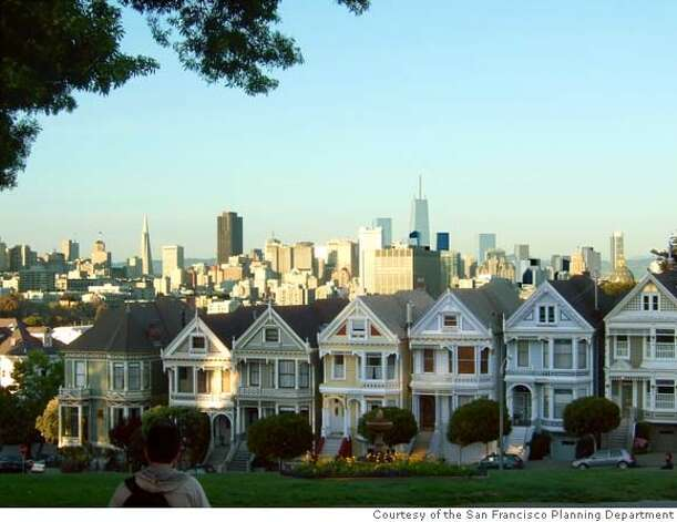 ###Live Caption:If approved, the new zoning proposed for San Francisco's South of Market would allow a cluster of skyscrapers markedly taller than what now exists, or is allowed under current zoning. This perspective from Alamo Square Ñ shows potential height, not actual designs. Rincon Hill towers approved but not yet built. On the left are the towers possible under newly proposed Transbay area height limits. On the right are the approved Rincon Hill towers approved that are not yet built.  Photo Courtesy of the San Francisco Planning Department###Caption History:If approved, the new zoning proposed for San Francisco's South of Market would allow a cluster of skyscrapers markedly taller than what now exists, or is allowed under current zoning. This perspective from Alamo Square � shows potential height, not actual designs. Rincon Hill towers approved but not yet built. On the left are the towers possible under newly proposed Transbay area height limits. On the right are the approved Rincon Hill towers approved that are not yet built.  Photo Courtesy of the San Francisco Planning Department###Notes:###Special Instructions:MANDATORY CREDIT FOR PHOTOG AND SAN FRANCISCO CHRONICLE/NO SALES-MAGS OUT Photo: San Francisco Planning Departmen