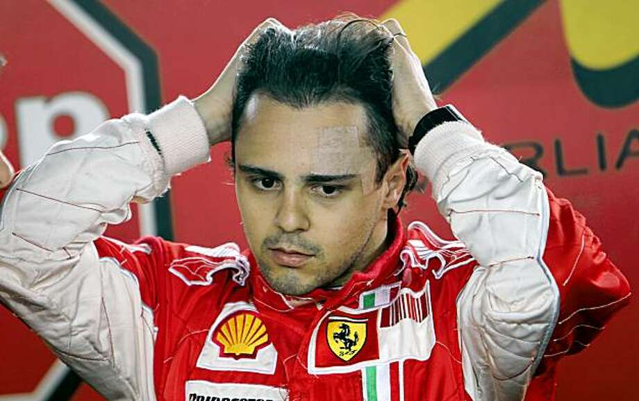 Ferrari Formula One driver Felipe Massa, of Brazil, gestures during his kart training session in Sao Paulo, Thursday, Oct. 1, 2009.  Massa is recovering from injuries from a July crash in his Ferrari at the Hungarian Grand Prix. (AP Photo/Andre Penner) Photo: Andre Penner, AP