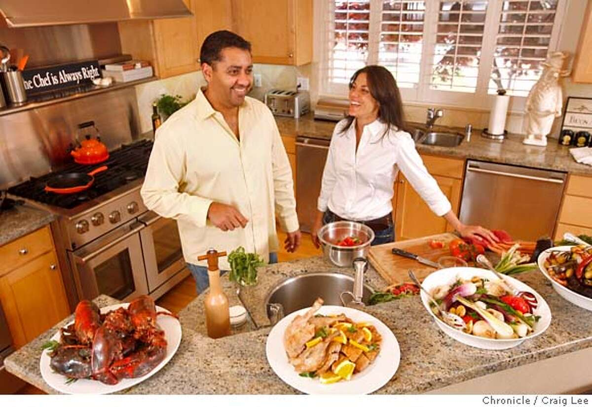 ###Live Caption:Four-star chef, Michael Mina and his wife Diane, at their home in Novato, Calif., on April 19, 2008. Photo by Craig Lee / The San Francisco Chronicle###Caption History:Four-star chef, Michael Mina and his wife Diane, at their home in Novato, Calif., on April 19, 2008. Photo by Craig Lee / The San Francisco Chronicle###Notes:Craig Lee 415-218-8597 clee@sfchronicle.com###Special Instructions:MANDATORY CREDIT FOR PHOTOG AND SF CHRONICLE/NO SALES-MAGS OUT