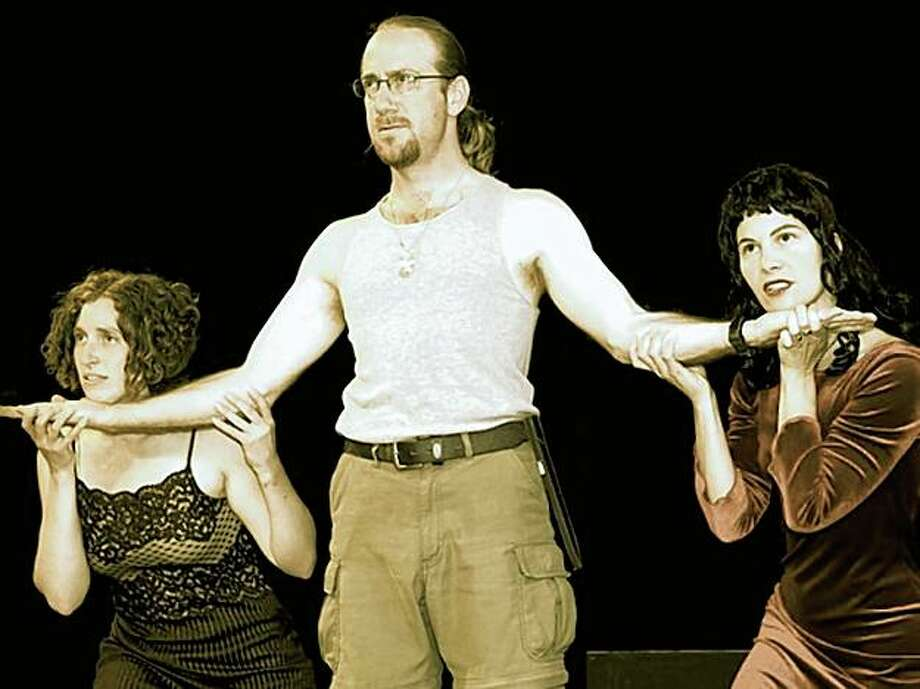 """Anna Snheiderman, Keith Davis and Amy Sass in """"So Many Ways to Kill a Man,"""" A Ragged Wing production playing Oct. 8-24 at the Metal Shop Theater in Berkeley. Photo: Bilha Sperling"""