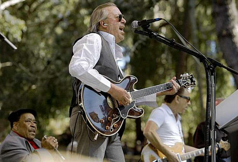 Boz Scaggs and the Blue Velvet Band take over the Rooster Stage to play for the crowd during the Hardly Strictly Bluegrass Festival,  Golden Gate Park on Saturday October 3, 2009 in San Francisco, Calif. Photo: Michael Macor, The Chronicle