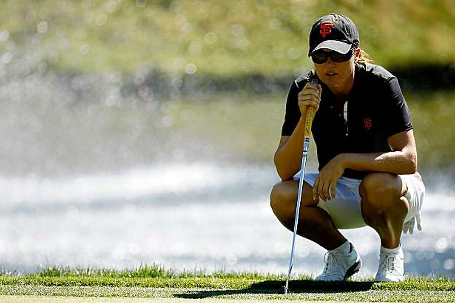 DANVILLE, CA - SEPTEMBER 25:  Sophie Gustafson of Sweden lies up a putt on the 7th hole during the second round of the CVS/pharmacy LPGA Challenge at Blackhawk Country Club on September 25, 2009 in Danville, California.  (Photo by Jonathan Ferrey/Getty Images) Photo: Jonathan Ferrey, Getty Images