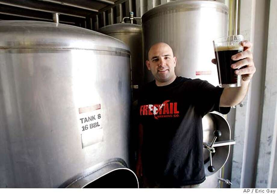 ###Live Caption:** ADVANCE FOR WEEKEND MAY 3-4 ** Scott Metzger poses with some of the equipment he will use to open his restaurant-microbrewery in San Antonio, Tuesday, April 29, 2008. Metzger turned to a credit union for a small business loan after being denied loans from three large banks. (AP Photo/Eric Gay)###Caption History:** ADVANCE FOR WEEKEND MAY 3-4 ** Scott Metzger poses with some of the equipment he will use to open his restaurant-microbrewery in San Antonio, Tuesday, April 29, 2008. Metzger turned to a credit union for a small business loan after being denied loans from three large banks. (AP Photo/Eric Gay)###Notes:Scott Metzger###Special Instructions:** ADVANCE FOR WEEKEND MAY 3-4 ** Photo: Eric Gay