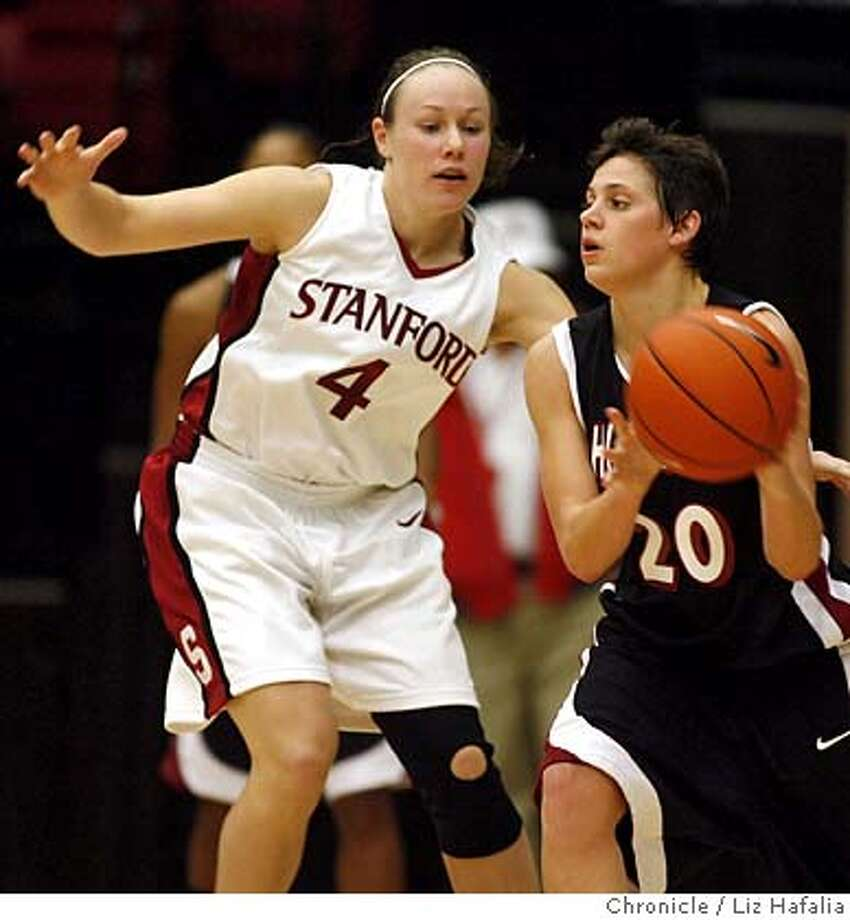 stanfordwomenbasketball_LH118.jpg Stanford women's basketball hosts Chico State in exhibition game at Maples Pavilion. Clare Bodensteiner (#4) during the second period.  Photographed by Liz Hafalia Photo: Liz Hafalia