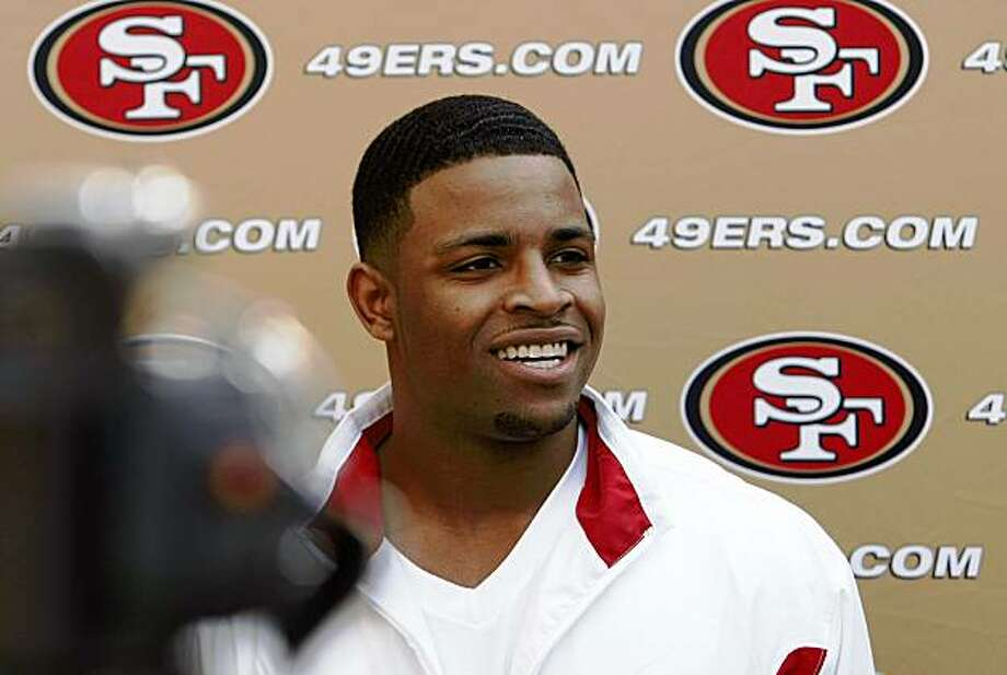 Top draft pick for the 49ers Michael Crabtree meets the media as the San Francisco 49ers introduce their rookies for the 2009 season at the 49ers headquarters in Santa Clara, Calif. on Thursday April 30, 2009. Photo: Michael Macor, The Chronicle