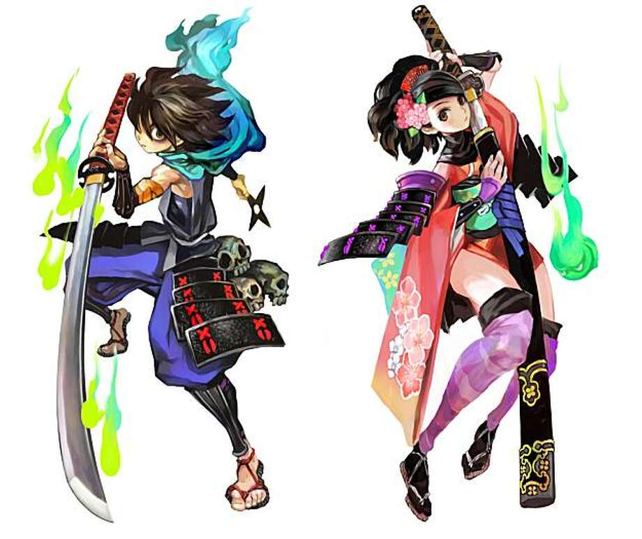 Kisuke (left) and Momohime are the two playable characters, each with their own storyline, in Muramasa: The Demon Blade. Photo: Ignition Entertainment