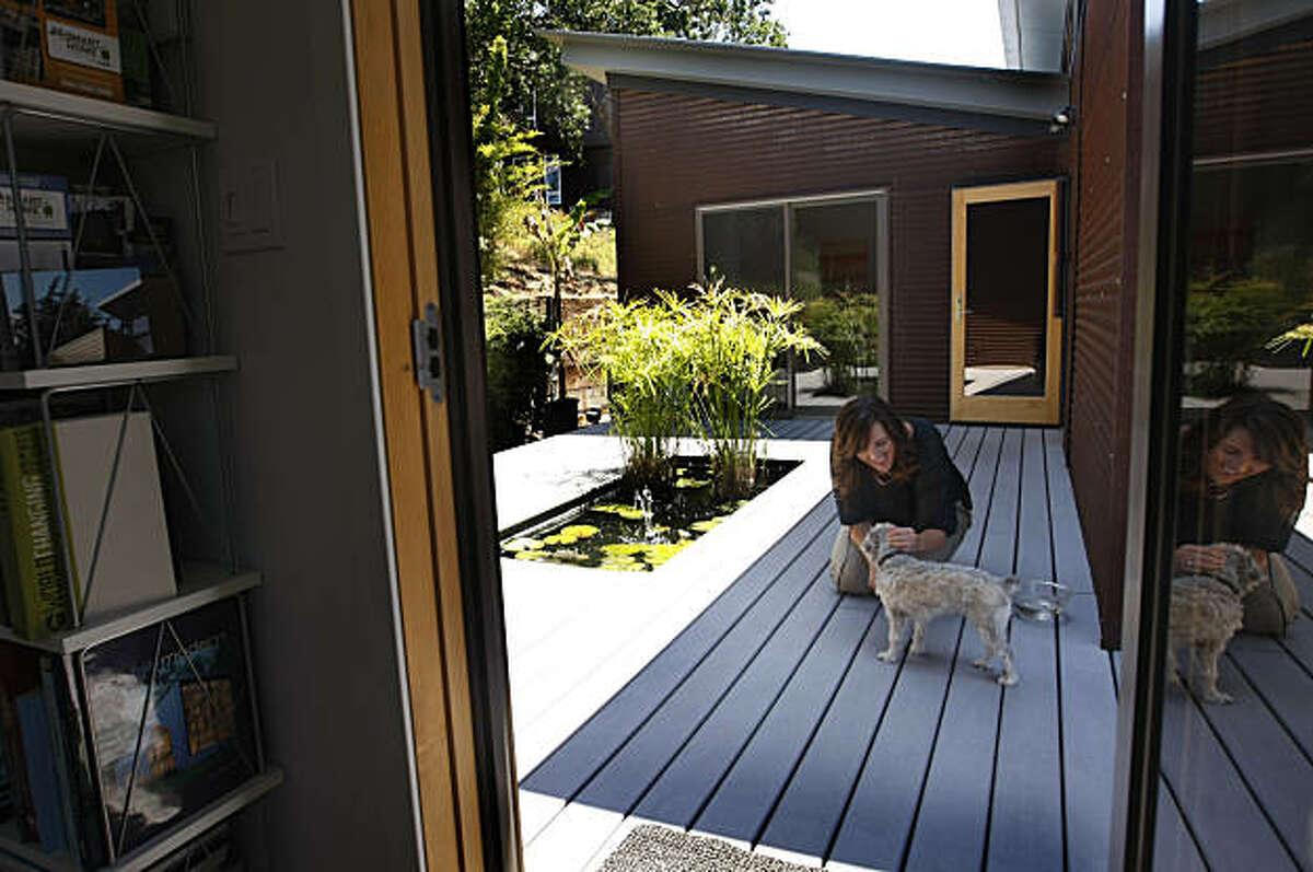 Architect Michelle Kaufmann inside her sustainable home, Thursday June 11, 2009, in Novato, Calif.