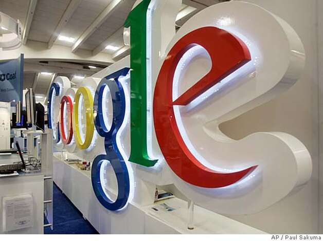 ###Live Caption:The Google booth at the RSA convention in San Francisco is shown Tuesday, April 8, 2008. Google Inc. reports earnings for the first quarter after the market closes on Thursday, April 17, 2008. (AP Photo/Paul Sakuma)###Caption History:The Google booth at the RSA convention in San Francisco is shown Tuesday, April 8, 2008. Google Inc. reports earnings for the first quarter after the market closes on Thursday, April 17, 2008. (AP Photo/Paul Sakuma)  Ran on: 04-19-2008 Ran on: 04-19-2008###Notes:Google###Special Instructions: Photo: Paul Sakuma