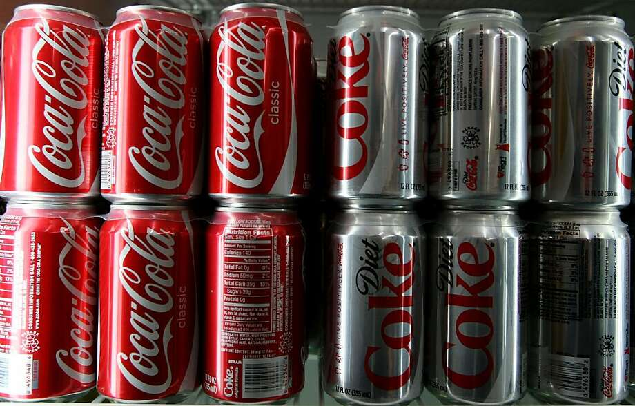 Coca Cola products are displayed in a cooler at a convenience store April 16, 2008 in San Francisco. Photo: Justin Sullivan, Getty Images