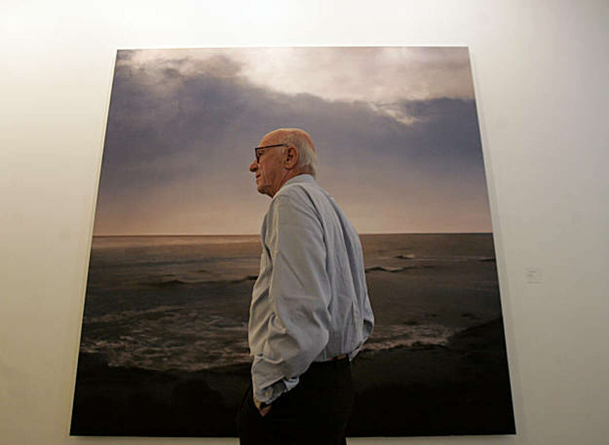 """Gap founder Don Fisher stands in front """"Seascape"""" by Gerhard Richter, in one of Fisher's galleries at the Gap headquarters in San Francisco, CA, on Tuesday, August, 7, 2007."""