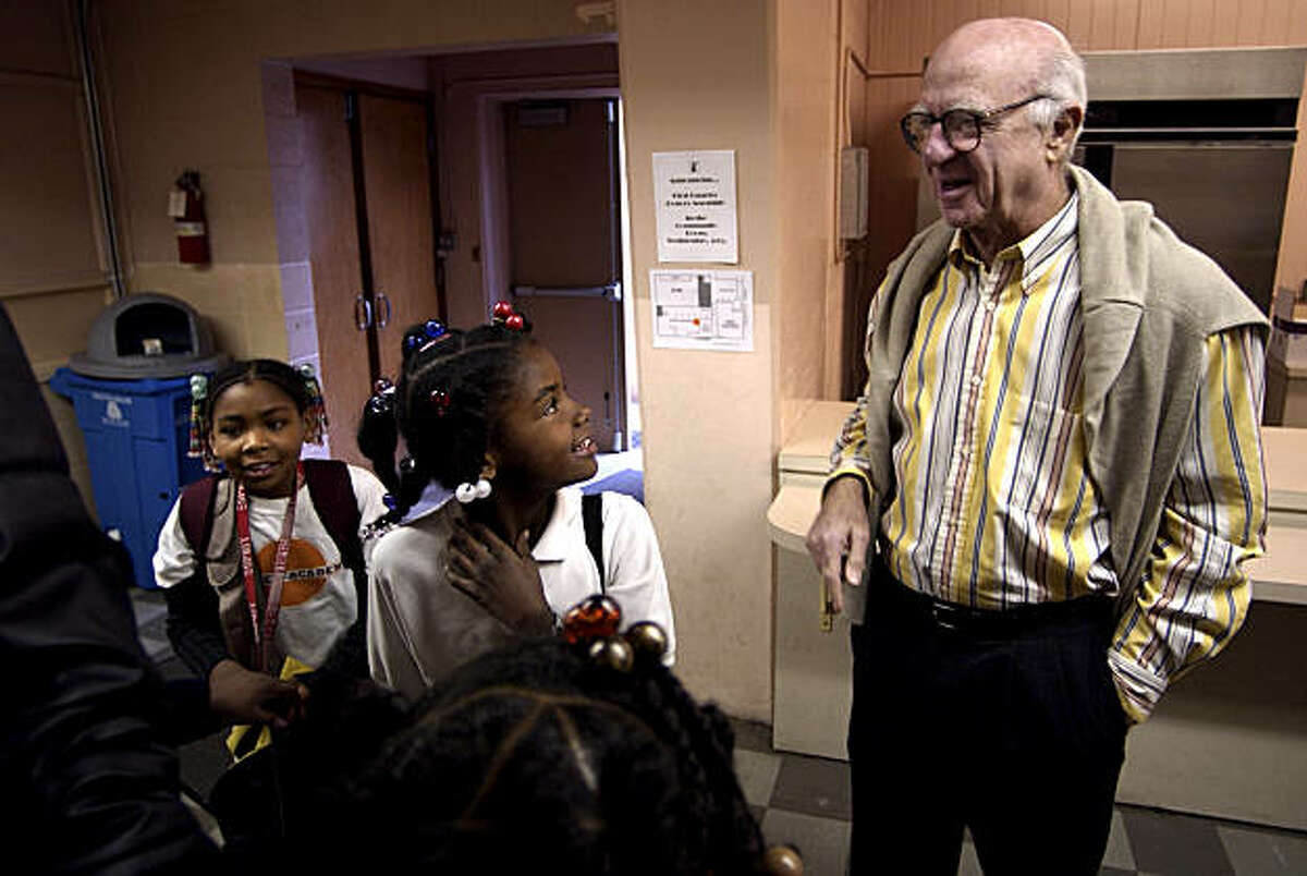 Gap founder Donald Fisher visits the Bayview Academy, a school following the KIPP method. Fisher has donated $25 million to KIPP.