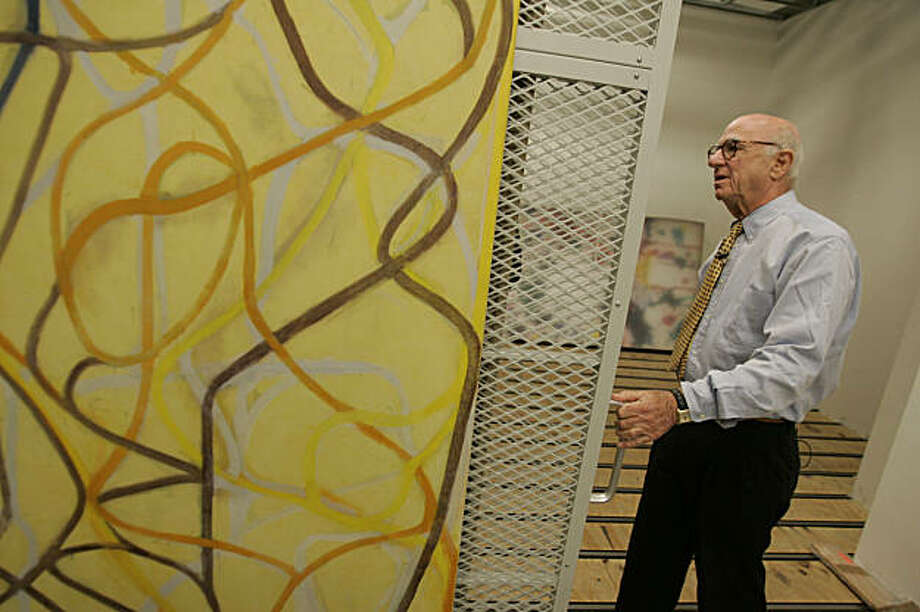 "SFMUSEUM08_291_MBK.JPG Gap founder Don Fisher walks through his vast collection of art at the Gap headquarters in San Francisco, CA, on Tuesday, August, 7, 2007. Pictured is ""The Sisters,"" 1991, by Brice Marden. Photo: Mike Kane, The Chronicle"