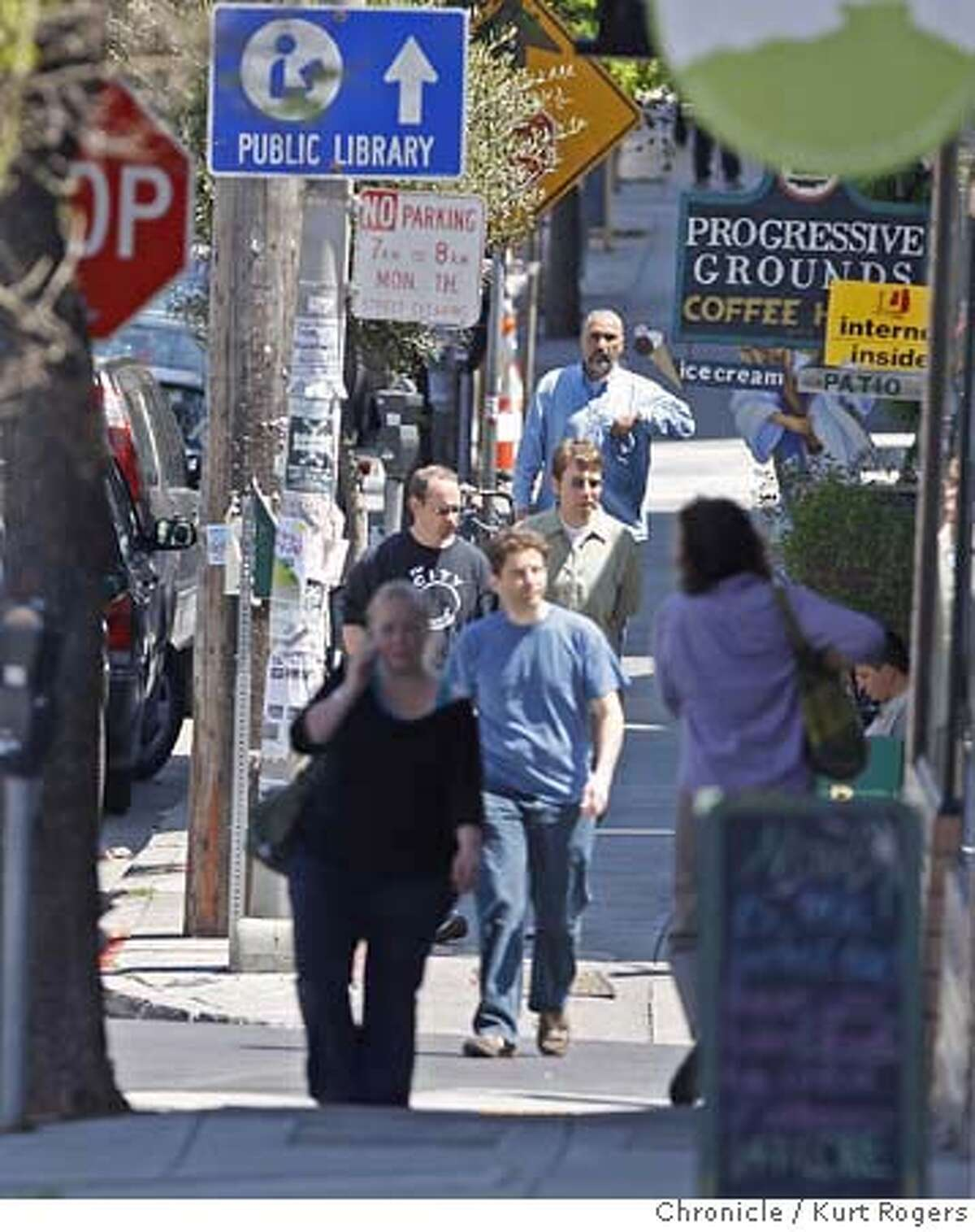###Live Caption:People walk up Courtland Ave as a big jump in the number of muggings in San Francisco?•s Glen Park and Bernal Heights neighborhoods Last month, there were 52 robberies reported in the Ingleside police district, which includes those neighborhoods. On Friday April 25 2008 in San Francisco, Calif Photo By Kurt Rogers / San Francisco Chronicle###Caption History:People walk up Courtland Ave as a big jump in the number of muggings in San Francisco�s Glen Park and Bernal Heights neighborhoods Last month, there were 52 robberies reported in the Ingleside police district, which includes those neighborhoods. On Friday April 25 2008 in San Francisco, Calif Photo By Kurt Rogers / San Francisco Chronicle###Notes:Robberies in Glenn Park and Bernal Heights.###Special Instructions:MANDATORY CREDIT FOR PHOTOG AND SAN FRANCISCO CHRONICLE/NO SALES-MAGS OUT