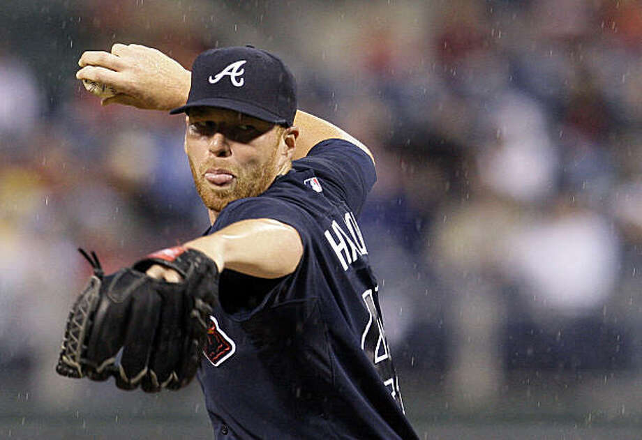 ** ADVANCE FOR WEEKEND EDITIONS, SEPT. 19-20 ** FILE - Atlanta Braves' Tommy Hanson pitches in the second inning of a baseball game against the Philadelphia Phillies in Philadelphia. With 10 wins already, Hanson looks very much like a pitcher who can restore the tradition of Maddux, Glavine and Smoltz. (AP Photo/Matt Slocum, File) Photo: Matt Slocum, AP