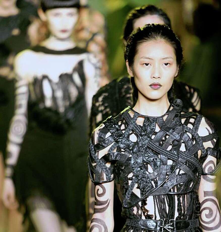 Spring 2010 fashion collection from Rodarte is modeled during fashion week in New York, Tuesday Sept. 15, 2009.  (AP Photo/Bebeto Matthews) Photo: Bebeto Matthews, AP