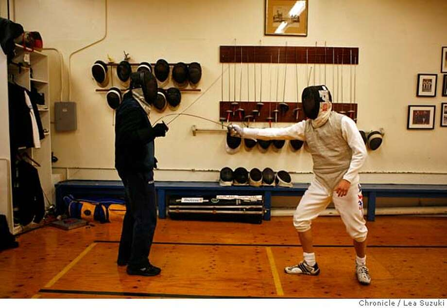 ###Live Caption:Gerek Meinhardt (right) who is 17 years old and is going to be on the U.S. Olympic team works with coach Greg Massialas (left) at the Halberstadt Fencers' Club at 621 South Van Ness in San Francisco, Calif. on Monday, March 31, 2008. Photo by Lea Suzuki / San Francisco Chronicle###Caption History:Gerek Meinhardt (right) who is 17 years old and is going to be on the U.S. Olympic team works with coach Greg Massialas (left) at the Halberstadt Fencers' Club at 621 South Van Ness in San Francisco, Calif. on Monday, March 31, 2008. Photo by Lea Suzuki / San Francisco Chronicle###Notes:Gerek Meinhardt  Greg Massialas###Special Instructions:�2007, San Francisco Chronicle  MANDATORY CREDIT FOR PHOTOG AND SAN FRANCISCO CHRONICLE/NO SALES-MAGS OUT Photo: Lea Suzuki