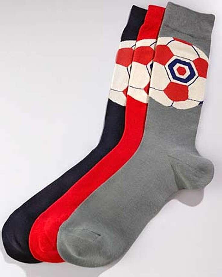 ###Live Caption:socks###Caption History:Nieman Marcus soccer socks  Ran on: 06-04-2006###Notes:###Special Instructions: Photo: Handout