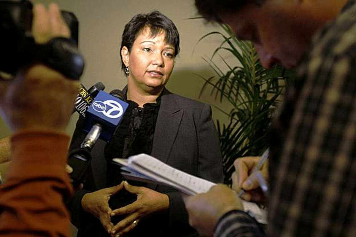 U.S. Environmental Protection Administration chief Lisa Jackson talking with press at a conference dedicated to the health of the SF Bay-Delta in Oakland Calif., on Tuesday, September 29, 2009.