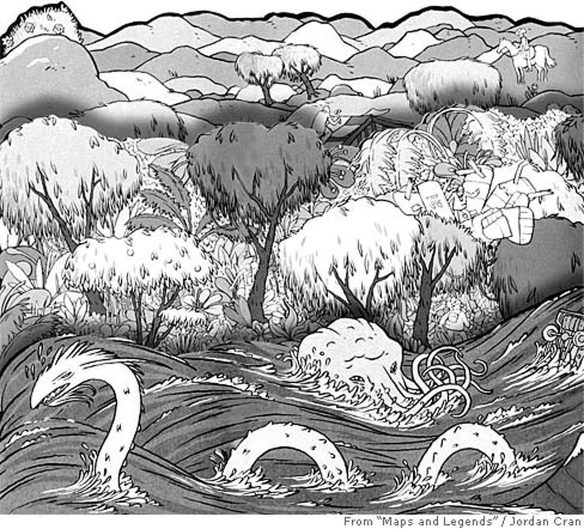 """From """"Maps and Legends."""" Illustration by Jordan Crane"""