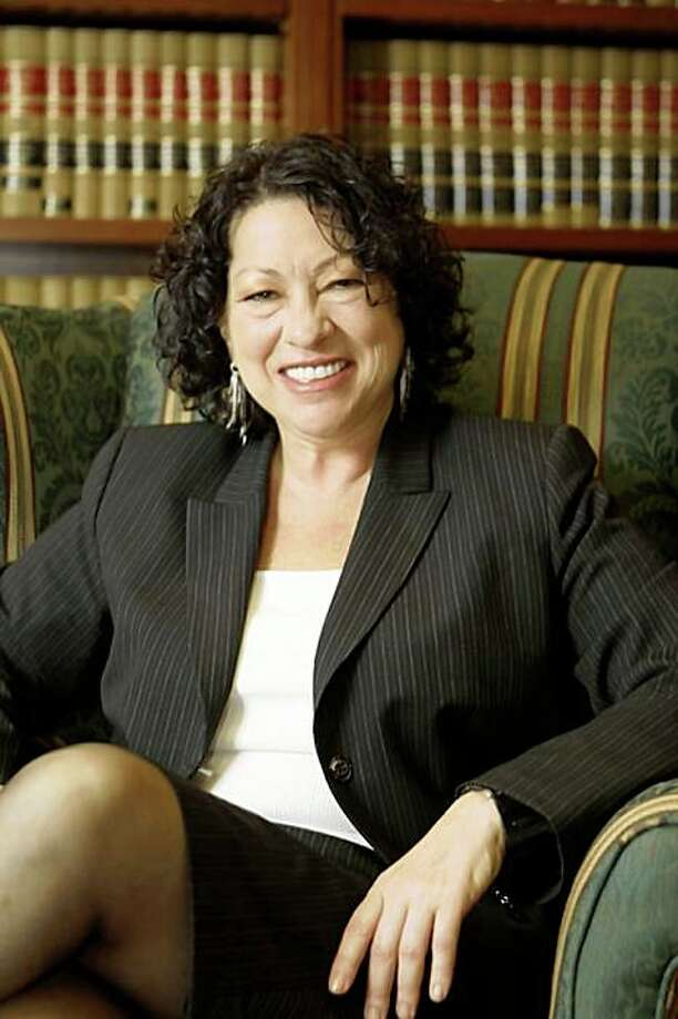 This photograph released by the White House on May 26, 2009 shows US appeals court justice Sonia Sotomayor, who has been nominated May 26, 2009 by US President Barack Obama to serve as the first Hispanic Justice of the Supreme Court.  Sotomayor, 54, would join Justice Ruth Bader Ginsburg to be the second woman now serving on the court -- if she survives what promises to be a bruising confirmation battle in the US Senate.     AFP PHOTO / The White House   == GETTY OUT == (Photo credit should read -/AFP/Getty Images) Photo: -, AFP/Getty Images