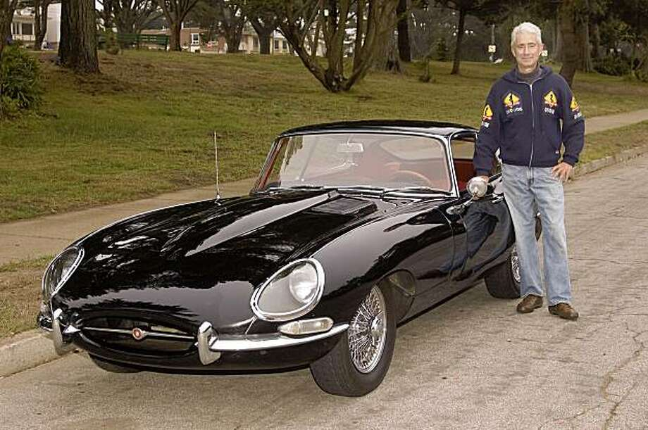 Enzo Ferrari described the E-type as the most beautiful car ever built. photos of Norman Vogel's 1964 Jaguar Type E Series 1 at Ortega & 39th Avenue, S.F., CA Photo: Stephen Finnerty