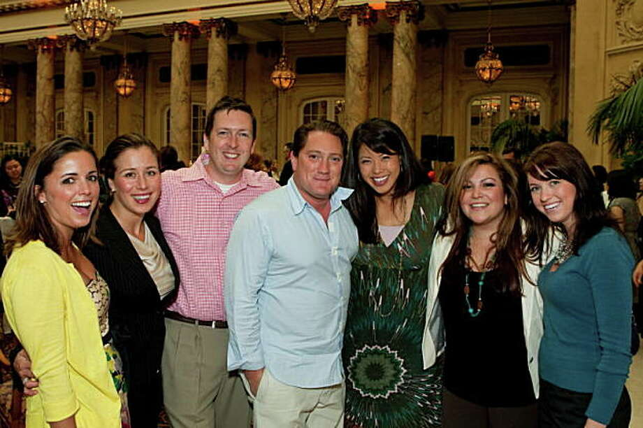 Palace Hotel 100th Anniversary Sandy Eastman, Tanya Rockerfeller, James Reid, Liam Mayclem, Janelle Wang , Cookie Laurio, Rachell Wyatt Photo: Aubrie Pick For Drew Altizer, Special To The Chronicle