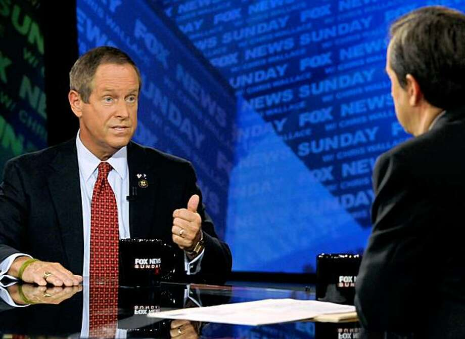 "In this photo provided by FOX News, Rep. Joe Wilson, R-S.C., appears on ""Fox News Sunday"" with Chris Wallace in Washington, Sunday, Sept. 13, 2009. (AP Photo/FOX News Sunday, Freddie Lee) MANDATORY CREDIT: FREDDIE LEE, FOX NEWS SUNDAY Photo: Freddie Lee, AP"