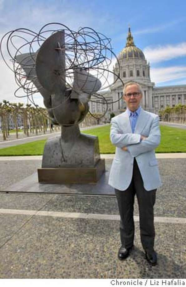 Artist Manolo Valdes has a series of bronze sculptures at Civic Center Plaza including Regina II, 2005, in San Francisco, Calif., on Monday, April 28, 2008. Photo by Liz Hafalia / San Francisco Chronicle Photo: Liz Hafalia