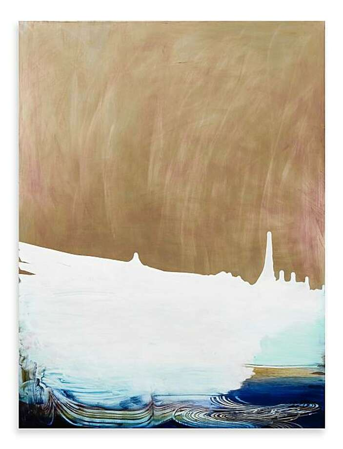 """Rose Snow"" (2009) oil on aluminum by Kim Anno  49"" x 37"" Photo: Sibila Savage, Patricia Sweetow Gallery, S.F."