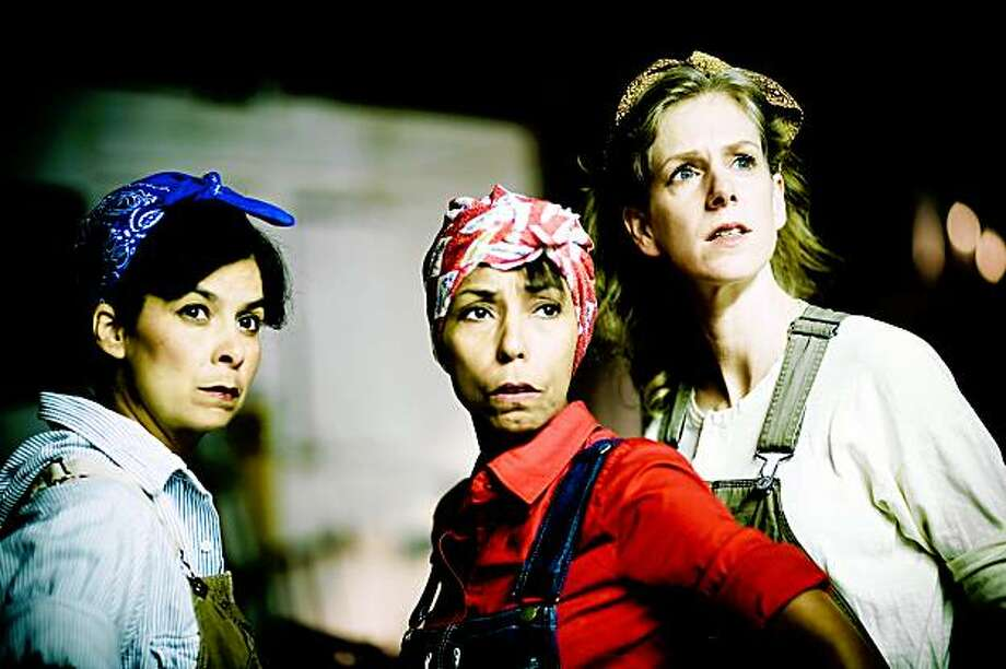 "Dena Martinez (left), Margo Hall and Beth Wilmurt in ""This World in a Woman's Hands"" at Shotgun  Players Photo: Jessica Palopoli"