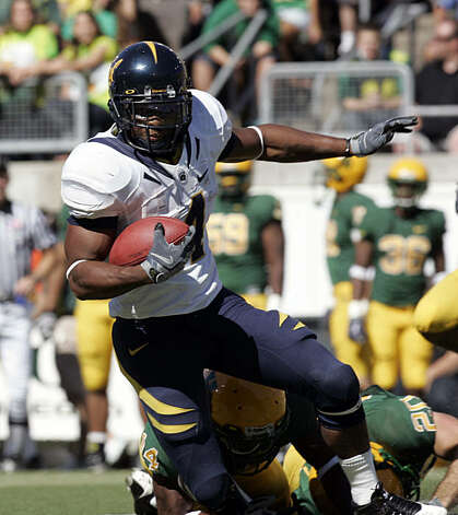 California running back Jahvid Best breaks free during the first half of their NCAA college football game against Oregon in Eugene, Ore., Saturday, Sept. 26, 2009. Photo: Don Ryan, AP