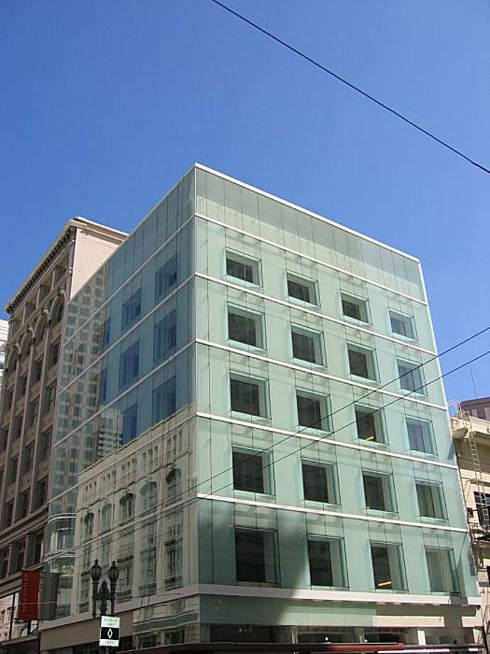A nondescript commercial building from the 1950s at 185 Post St. has received a stylish renovation that includes a glass skin outside the original brick walls. The design by Brand   Allen Architects received a 2008 Honor Award for Architecture from the San Francisco chapter of the American Institute of Architects Photo: Courtesy Brand Allen Architects
