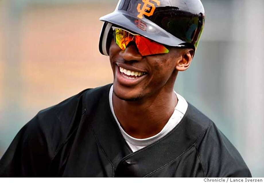 ###Live Caption:San Francisco Giants outfielder #14 Fred Lewis who is battling for a position on the team shares a light moment with teammates at Scottsdale Stadium during their spring training baseball workouts in Ariz, Tuesday. By Lance Iversen/The San Francisco Chronicle###Caption History:San Francisco Giants outfielder #14 Fred Lewis who is battling for a position on the team shares a light moment with teammates at Scottsdale Stadium during their spring training baseball workouts in Ariz, Tuesday. By Lance Iversen/The San Francisco Chronicle Ran on: 04-17-2008  Gavin Newsom###Notes:Iversen 415-297-9395  CQ###Special Instructions:MANDATORY CREDIT PHOTOG AND SAN FRANCISCO CHRONICLE/NO SALES MAGS OUT Photo: Lance Iversen