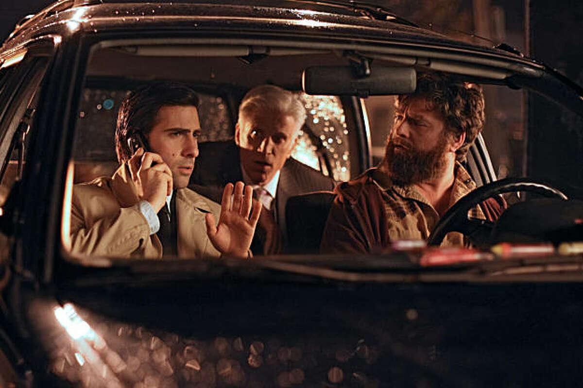 "Jason Schwartzman, Ted Danson and Zach Galifianakis star in HBO's ""Bored to Death."""
