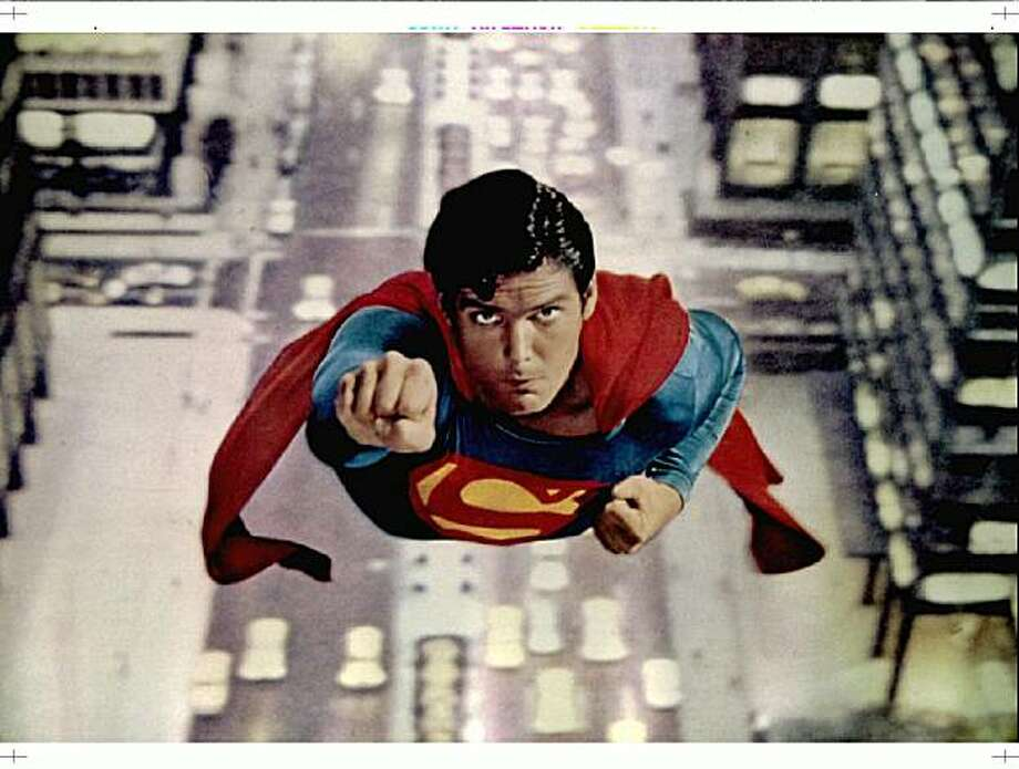 "Actor Christopher Reeve, most noted for his role as ""Superman"" is shown in a scene from the first ""Superman"" film in 1978. Photo: Reuters"