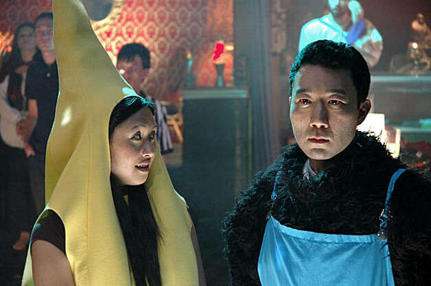"Joy Osmanski as Mary and Hiroshi Watanabe as Jimmy appear in a scene from ""White on Rice."""