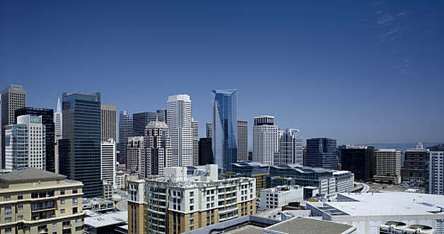 Millennium Tower,  designed by Handel Architects, is San Francisco's fourth tallest high rise,  and in the first batch of residential towers that could someday change the  skyline. Photo: Tim Griffith, Special To The Chronicle