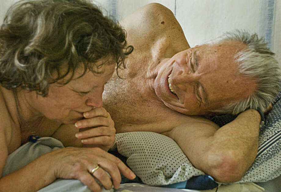 "67-year-old Inge (Ursula Werner) has an affair with 76-year-old Karl (Horst Westphal) in Andreas Dresen's film ""Cloud 9"" from Germany. Photo: Music Box Films"