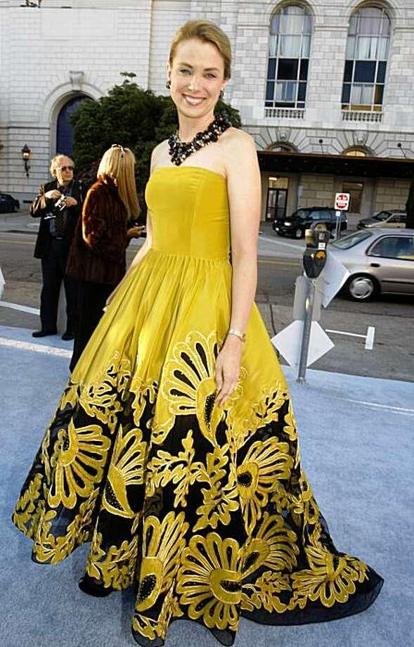 Marissa Mayer wearing Oscar de la Renta for the top 5 dresses at the Symphony Gala at Davies Hall on Wednesday, September 9, 2009, in San Francisco, Calif. Photo: Liz Hafalia, The Chronicle