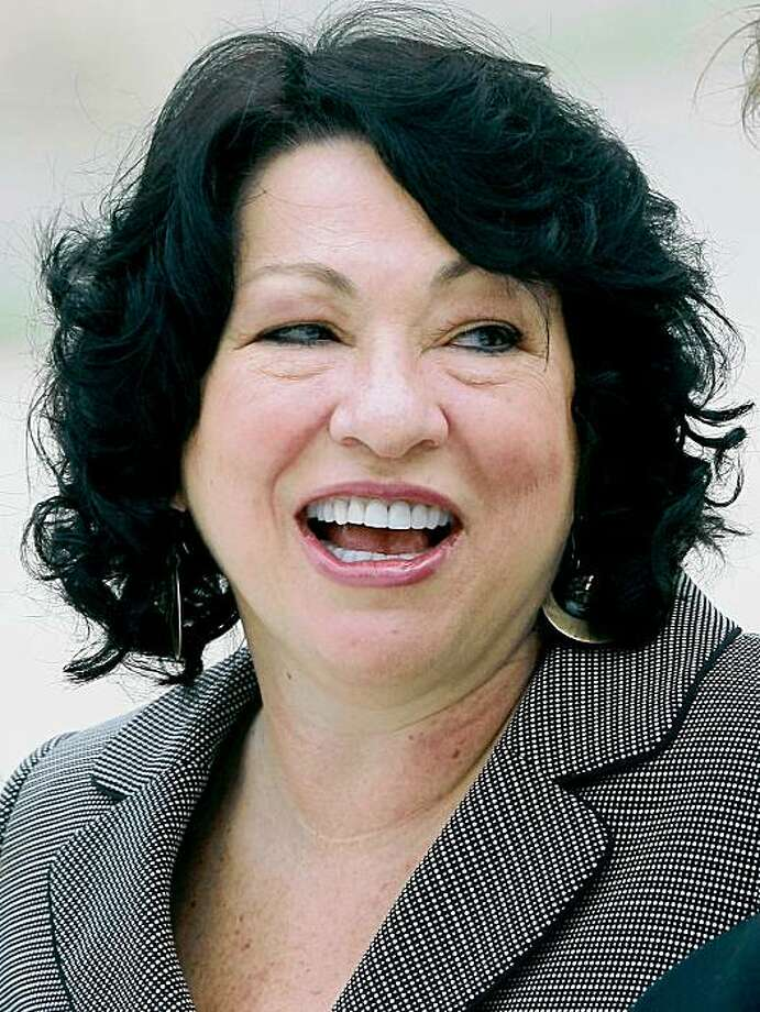 WASHINGTON - SEPTEMBER 08:  Associate Justice Sonia Sotomayor smiles while attending an event in front of the US Supreme Court building after her investiture ceremony on September 8, 2009 in Washington, DC. Justice Sotomayor is scheduled to participate in the work of the high Court immediately.   (Photo by Mark Wilson/Getty Images) Photo: Mark Wilson, Getty Images