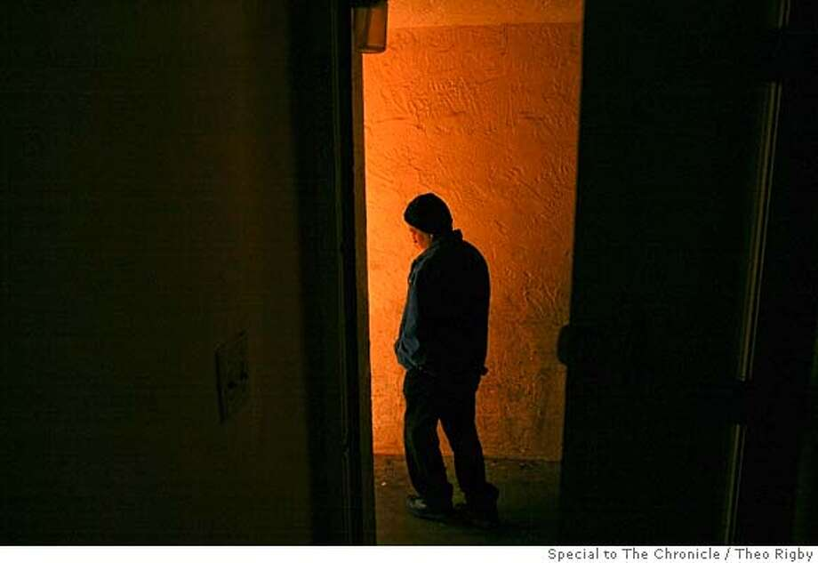 ###Live Caption:At 6:30am, Tio walks out of his apartment on his way to work. Over a year ago, Tio left his wife and seven children in Guatemala and came to America to work. He now works as a day laborer, lives in an apartment with six other men from Guatemala, and sends money back to his family. Photo by Theo Rigby / Special to the Chronicle###Caption History:At 6:30am, Tio walks out of his apartment on his way to work. Over a year ago, Tio left his wife and seven children in Guatemala and came to America to work. He now works as a day laborer, lives in an apartment with six other men from Guatemala, and sends money back to his family. Photo by Theo Rigby / Special to the Chronicle###Notes:###Special Instructions: Photo: Theo Rigby