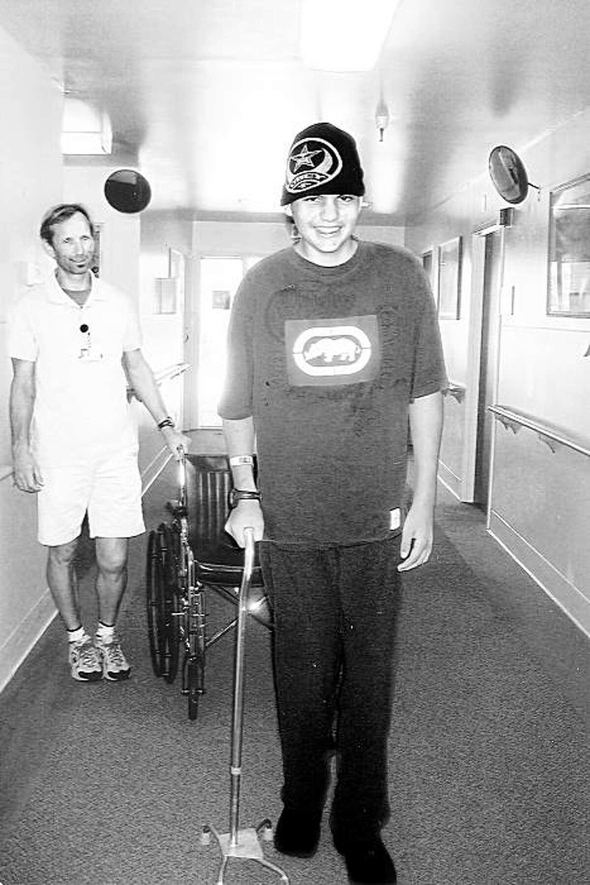 Ryan Tompkins at the Kentfield Rehabilitation Hospital in October 2006